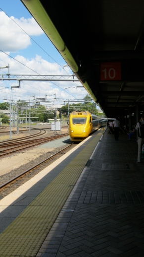 Bundaburg Tilt train at Roma St. Station