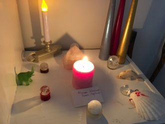 Healing Altar set up for Marion's release